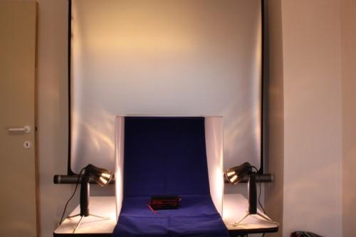 opstelling mini-fotostudio